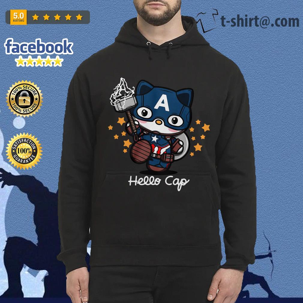 Captain America Hello Caps Hoodie