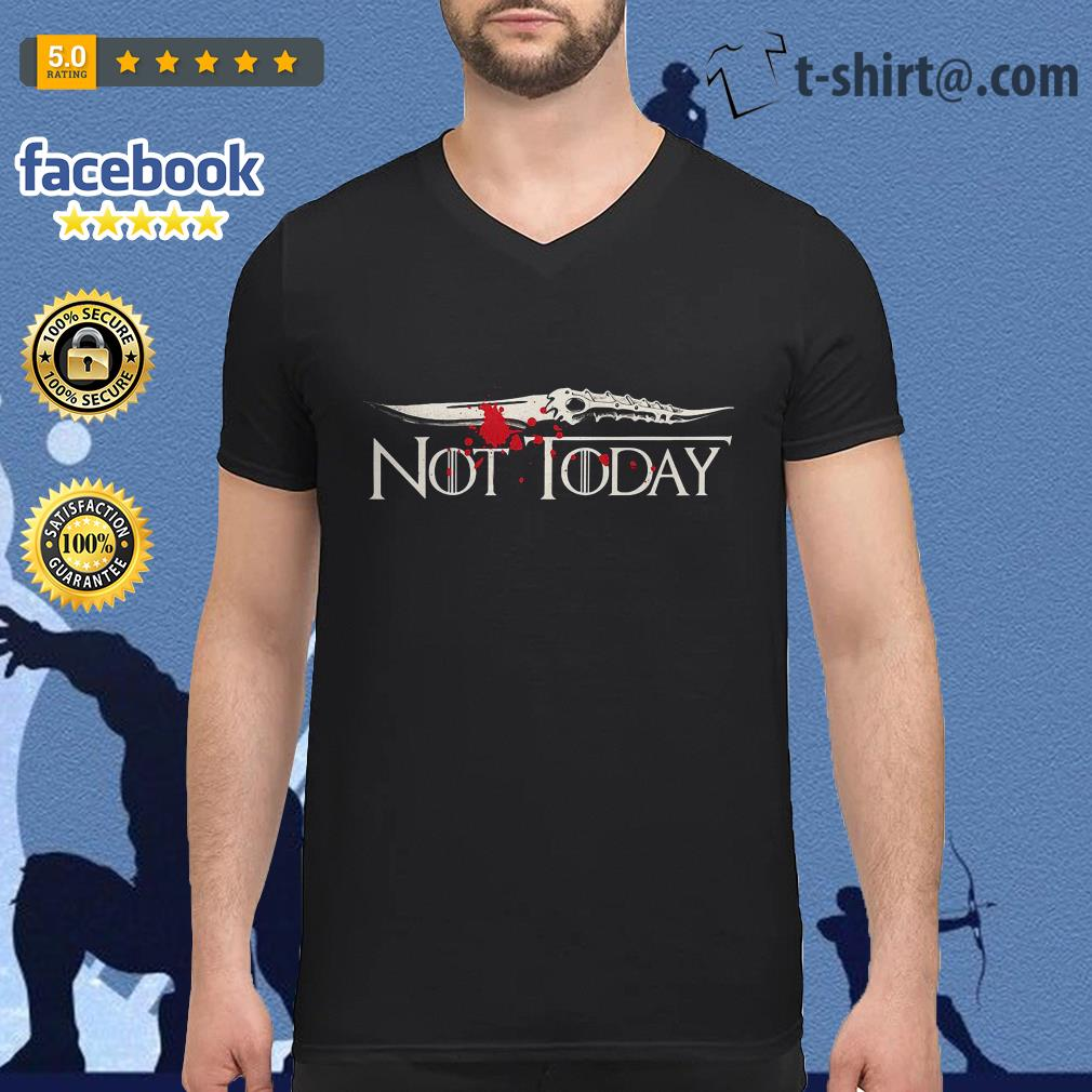 Catspaw Blade not today Game of Thrones V-neck T-shirt