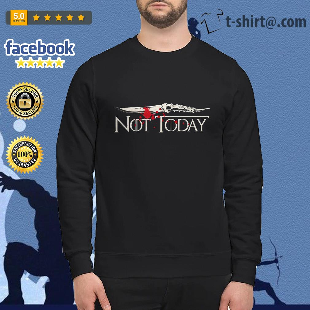 Catspaw Blade not today Game of Thrones Sweater