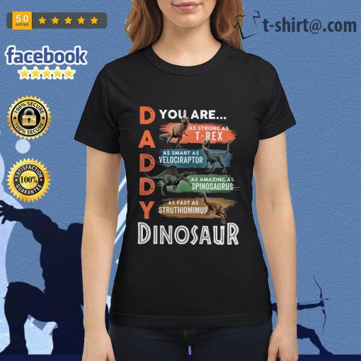 Daddy you are as strong as T-Rex as smart as Velociraptor Ladies Tee