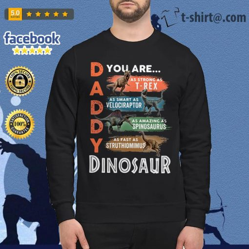 Daddy you are as strong as T-Rex as smart as Velociraptor Sweater