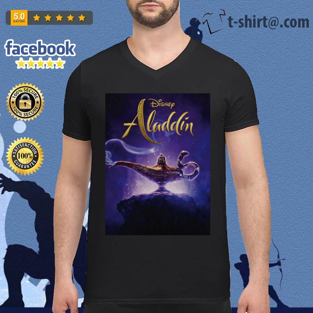 Disney Aladdin 2019 Aladdin live action cover V-neck T-shirt