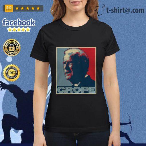 Donald Trump Grope poster Ladies Tee