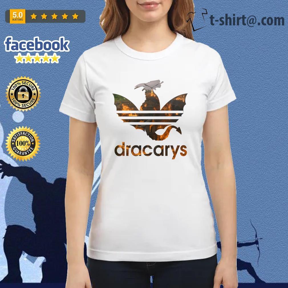 Drogon Dracarys fire adidas Game of Thrones Ladies Tee