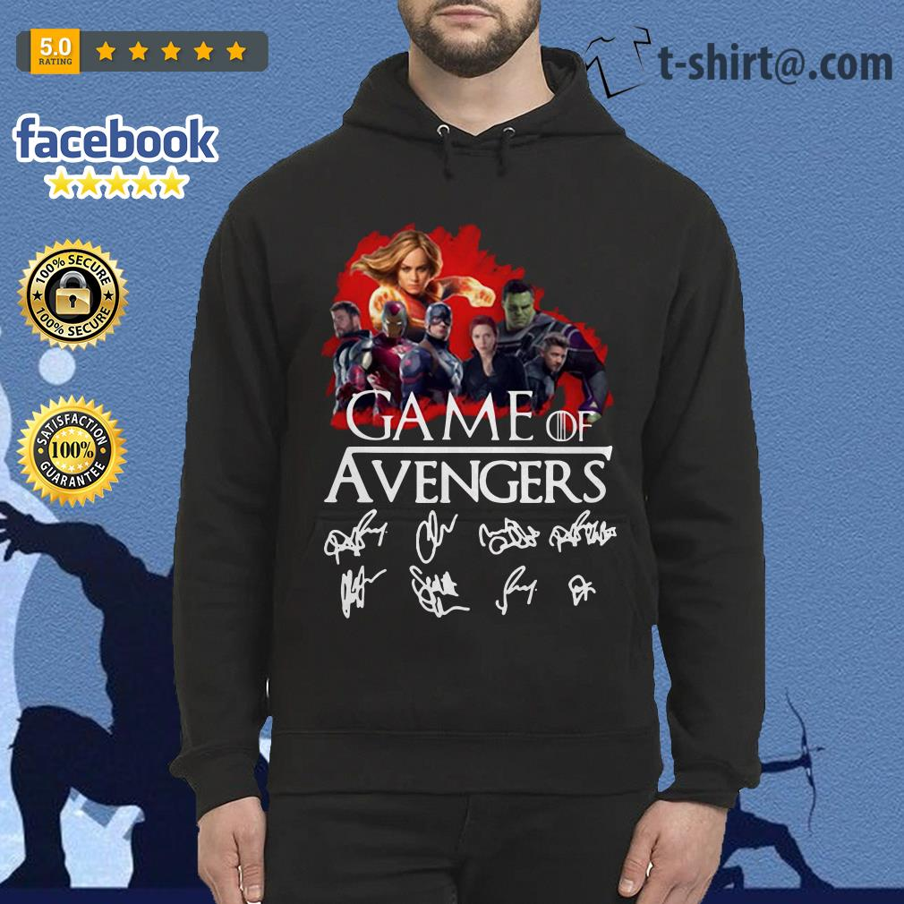 Game of Avengers all signature Game of Thrones Hoodie
