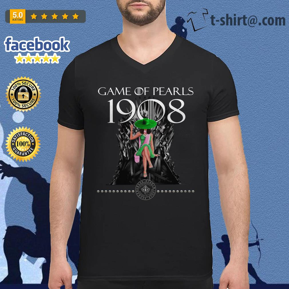 Game Of Pearls 1908 Game Of Thrones V-neck T-shirt