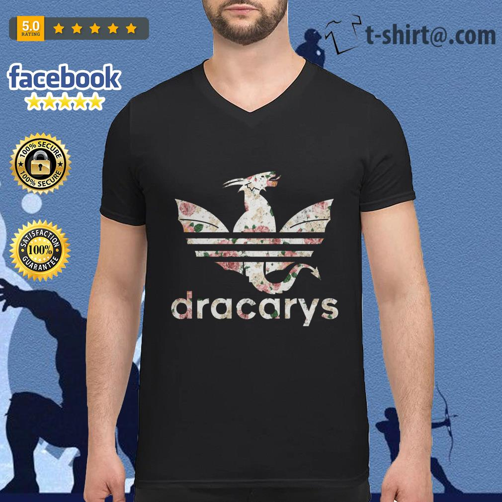 Game of Thrones adidas Dracarys roses V-neck T-shirt