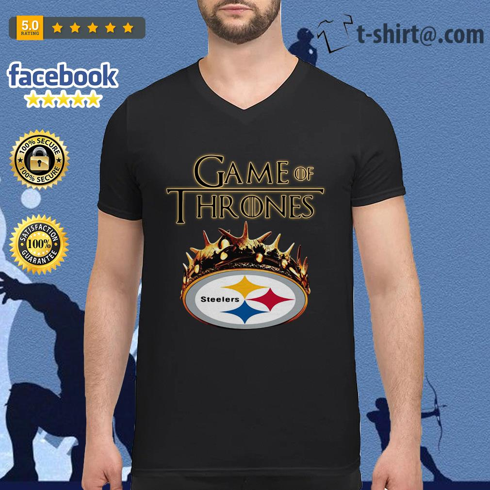 b74f5760f Game of Thrones Pittsburgh Steelers V-neck-t-shirt