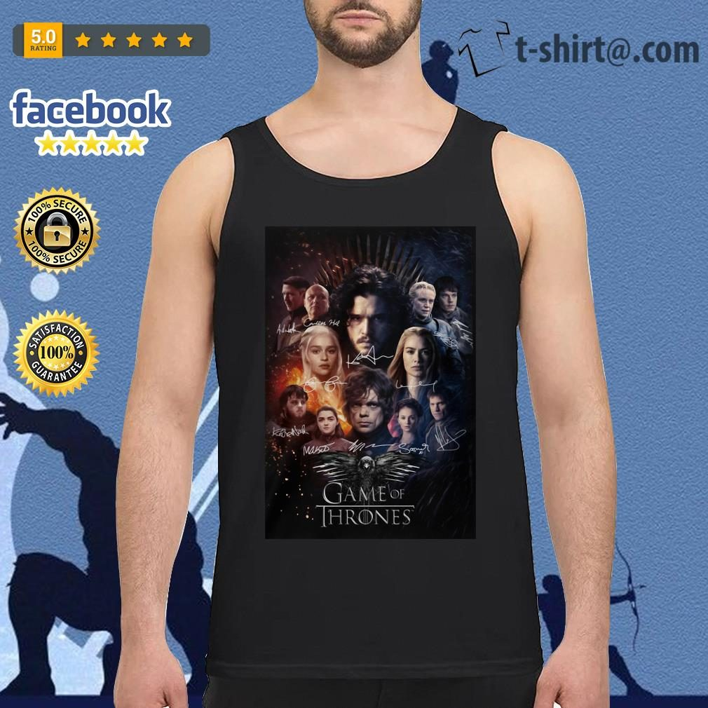 Game of Thrones signature poster Tank top