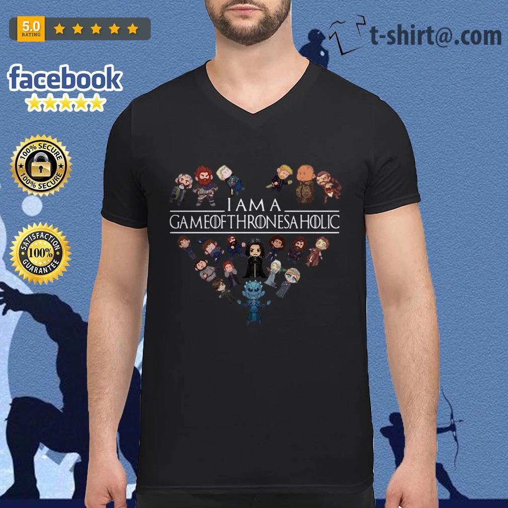 I am a Game of Thrones a holic V-neck T-shirt