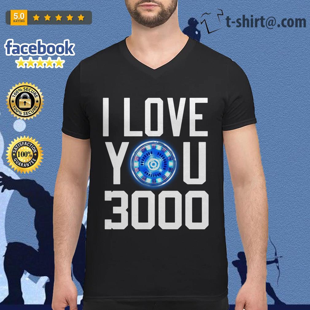 I love you 3000 times iron man V-neck T-shirt