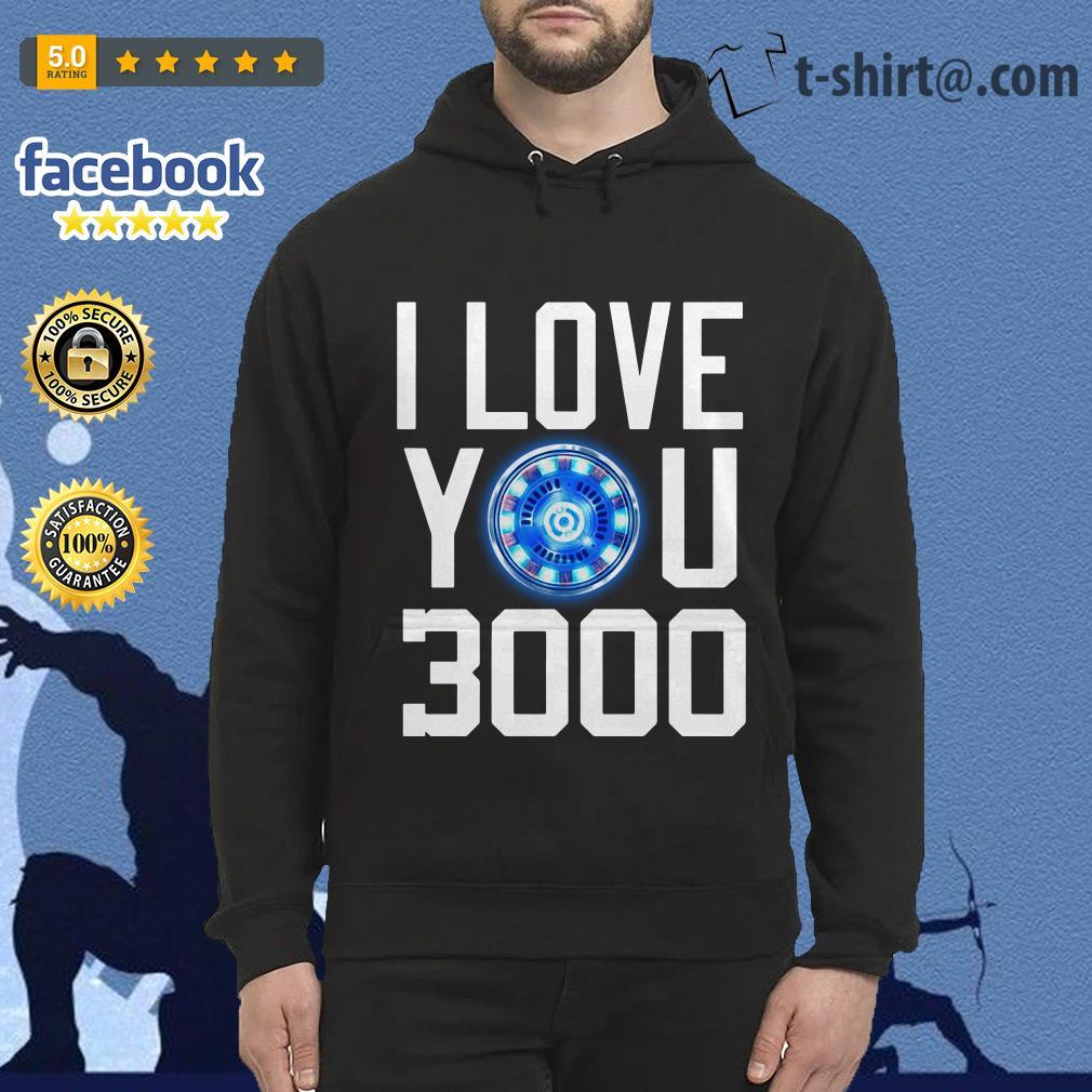 I love you 3000 times iron man Hoodie