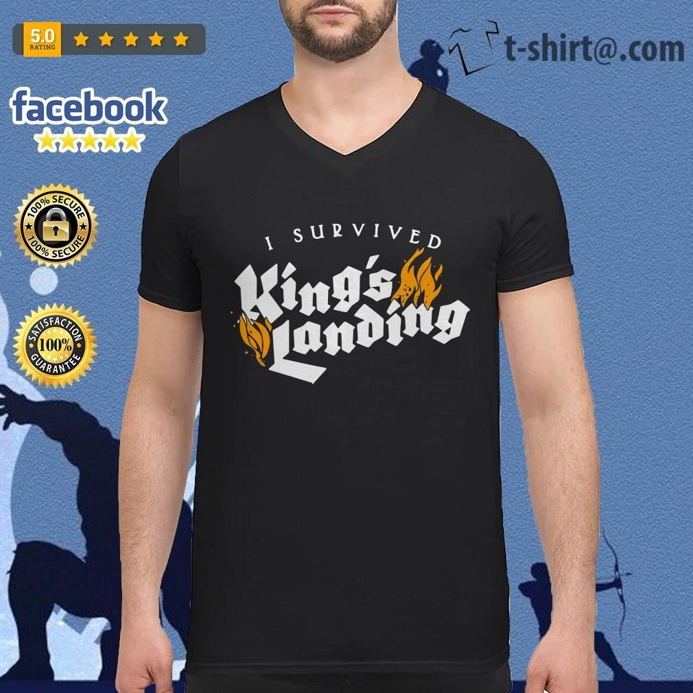 I survived King's landing V-neck-t-shirt