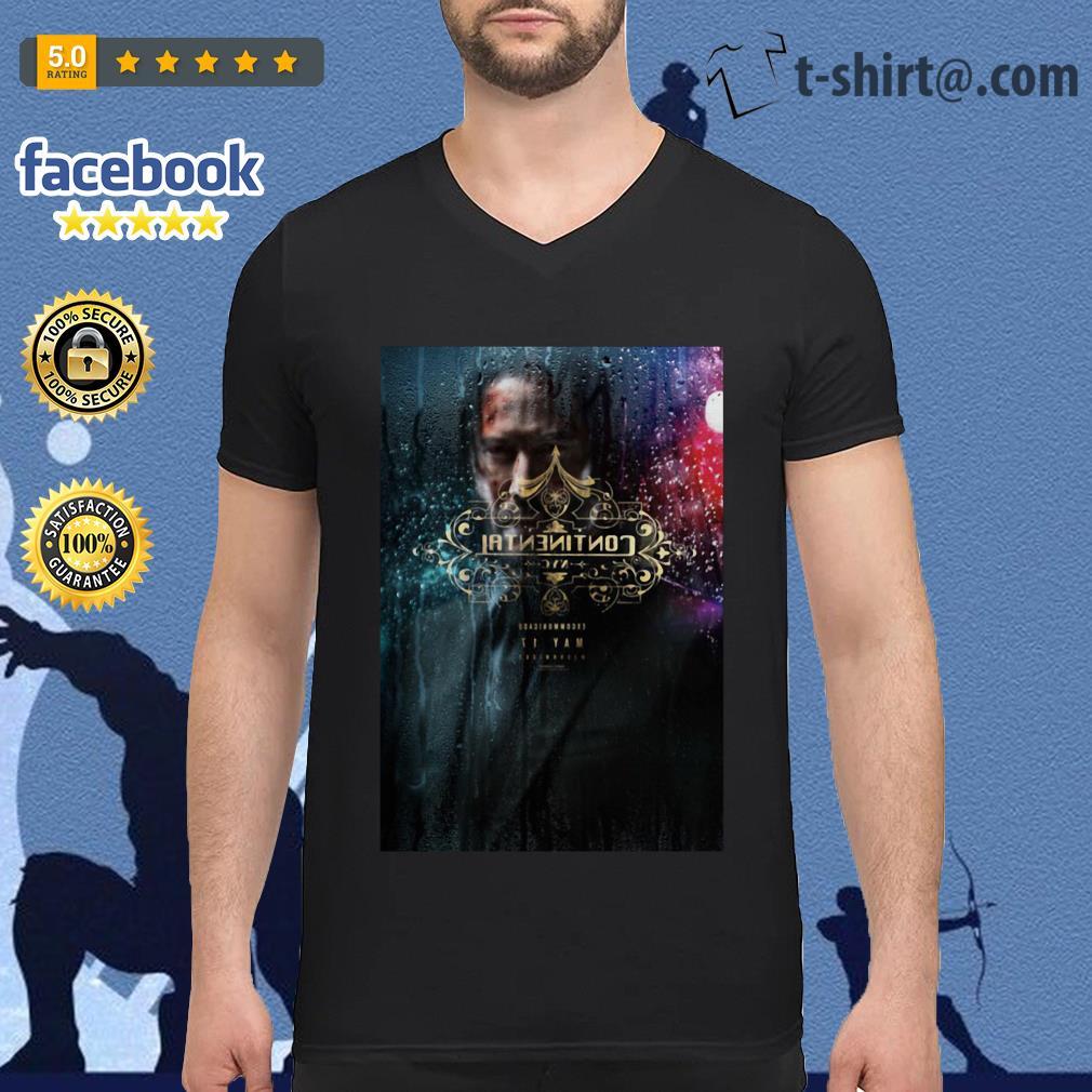 John Wick chapter 3 Parabellum' trailer digital printing leisure V-neck-t-shirt
