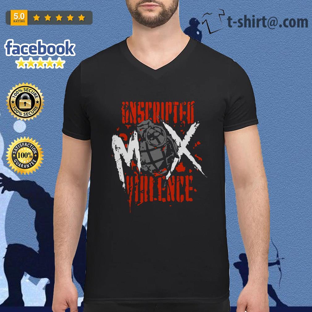 Jon Moxley Unscripted Violence V-neck t-shirt