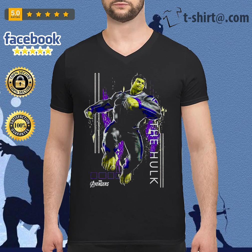 Marvel Avengers Endgame Hulk action Pose V-neck T-shirt