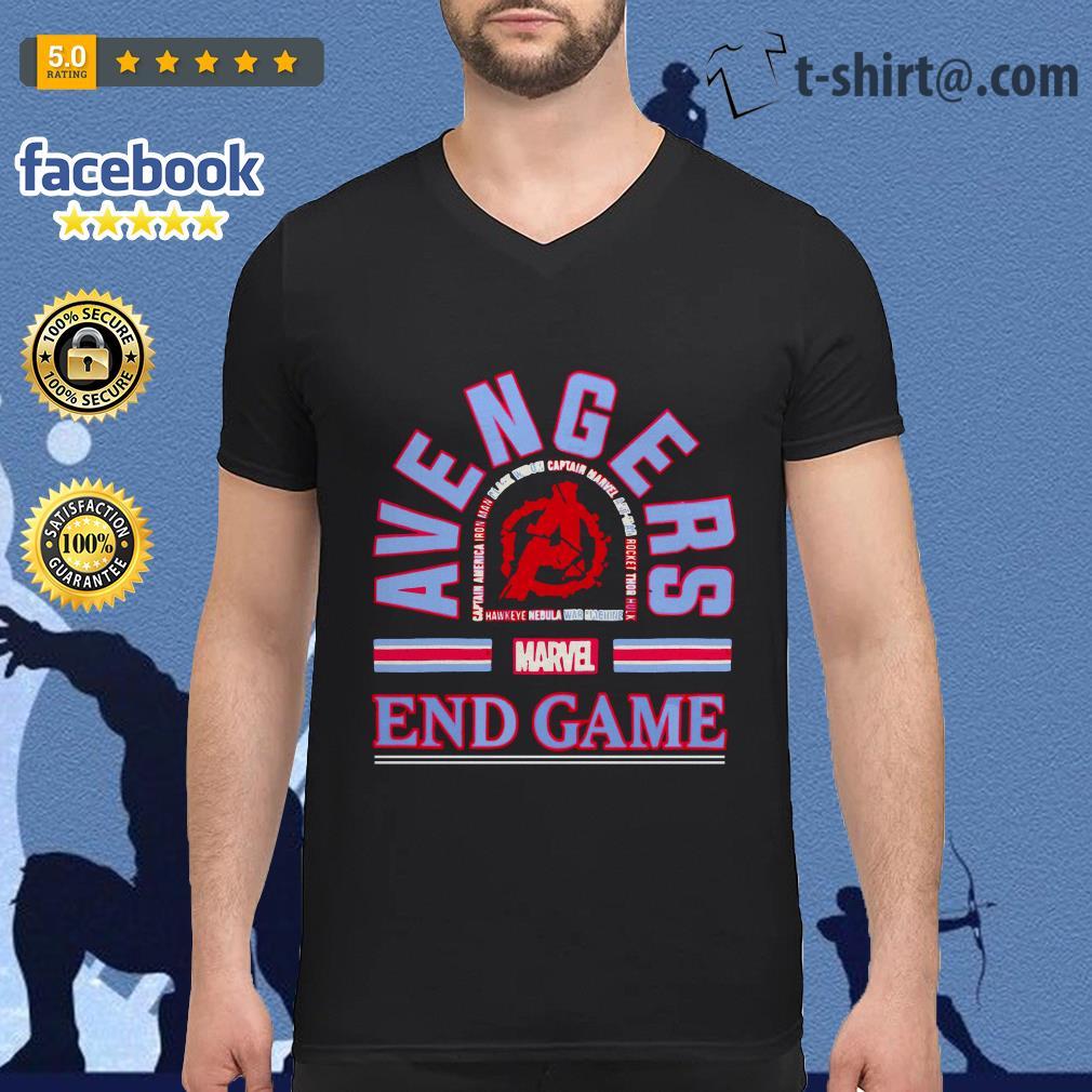 Marvel Avengers endgame tour V-neck T-shirt