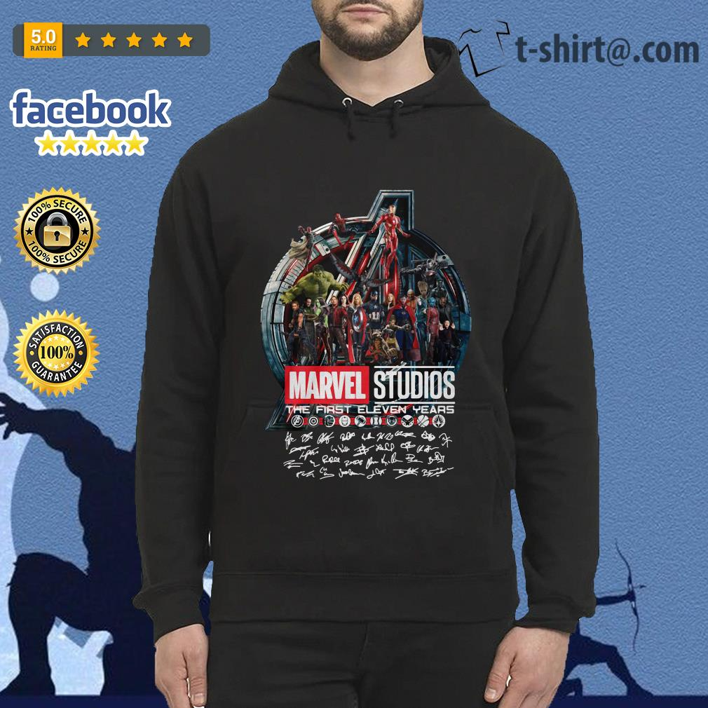Marvel studios the first eleven years all characters signature Avengers Hoodie