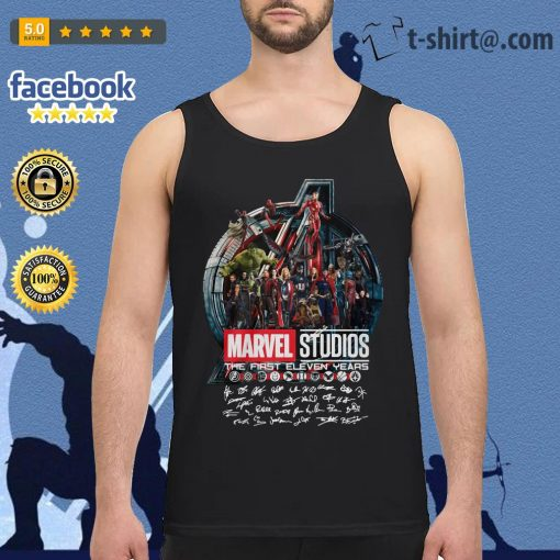 Marvel studios the first eleven years all characters signature Avengers Tank top