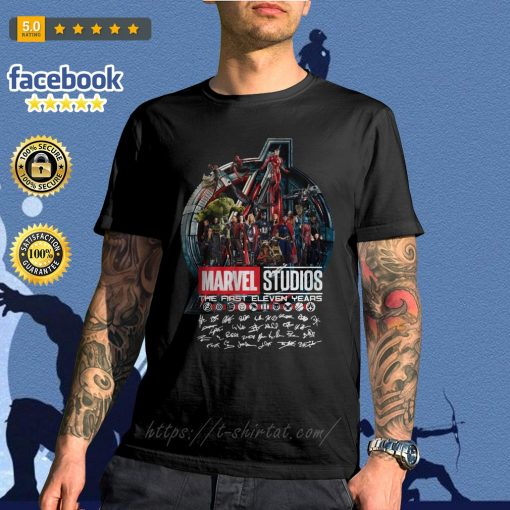 Marvel studios the first eleven years all characters signature Avengers shirt