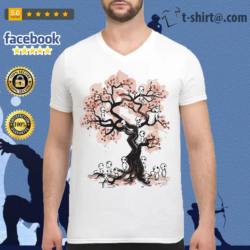 Mononoke forest spirit Sumi E V-neck T-shirt