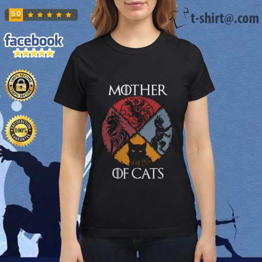 Mother of cats vintage Game of Thrones Ladies Tee