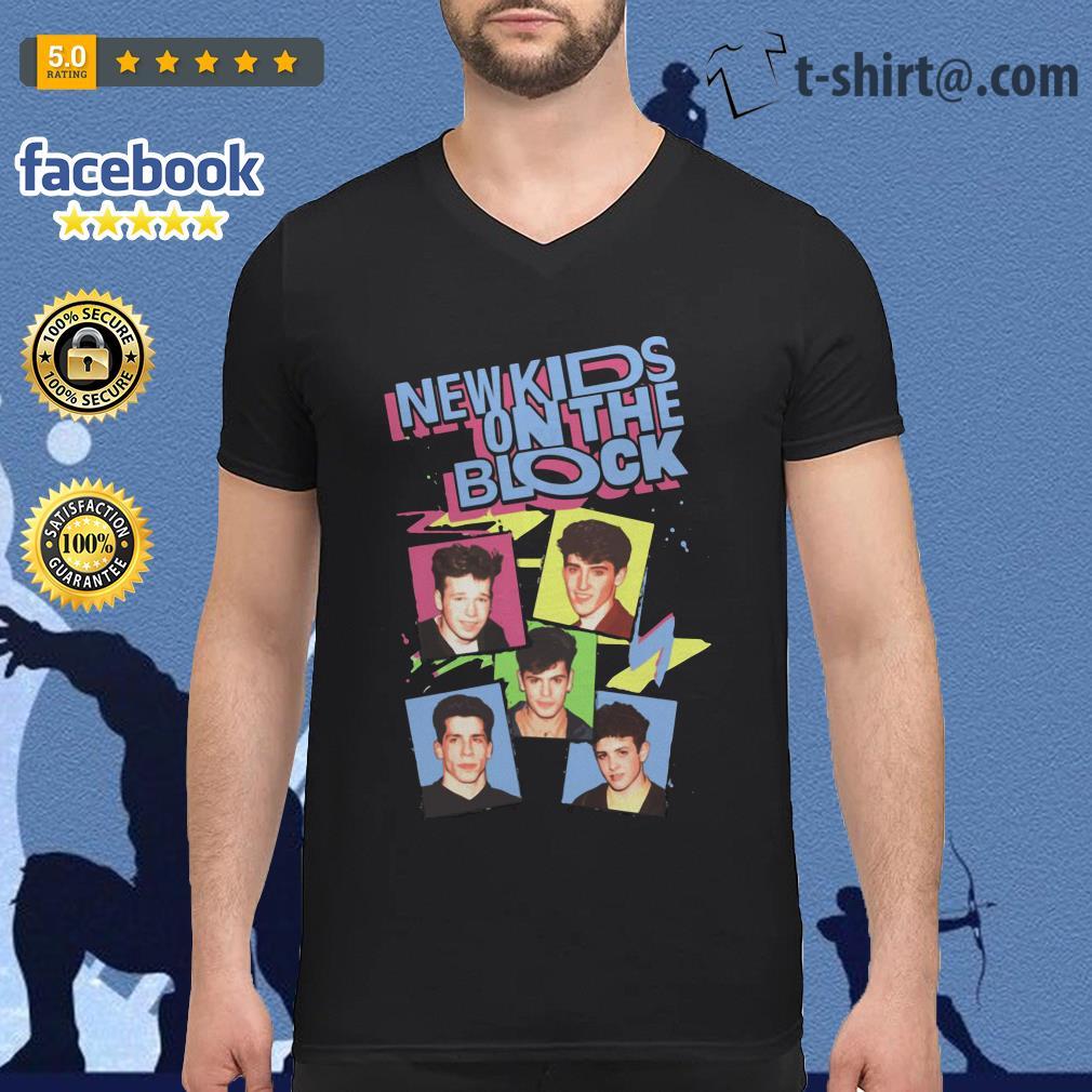 New Kids on the Block vintage V-neck T-shirt