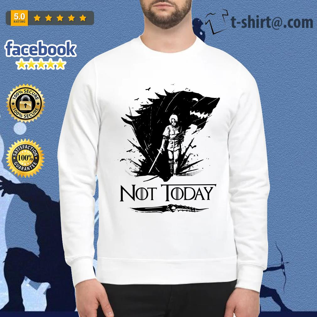 Official Arya Stark GOT not today Game of Thrones Sweater