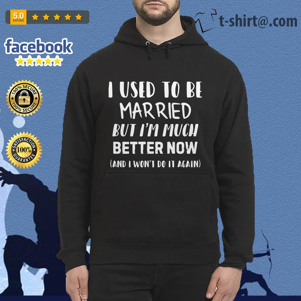 Official I used to be married but I'm much better now and I won't do it again Hoodie