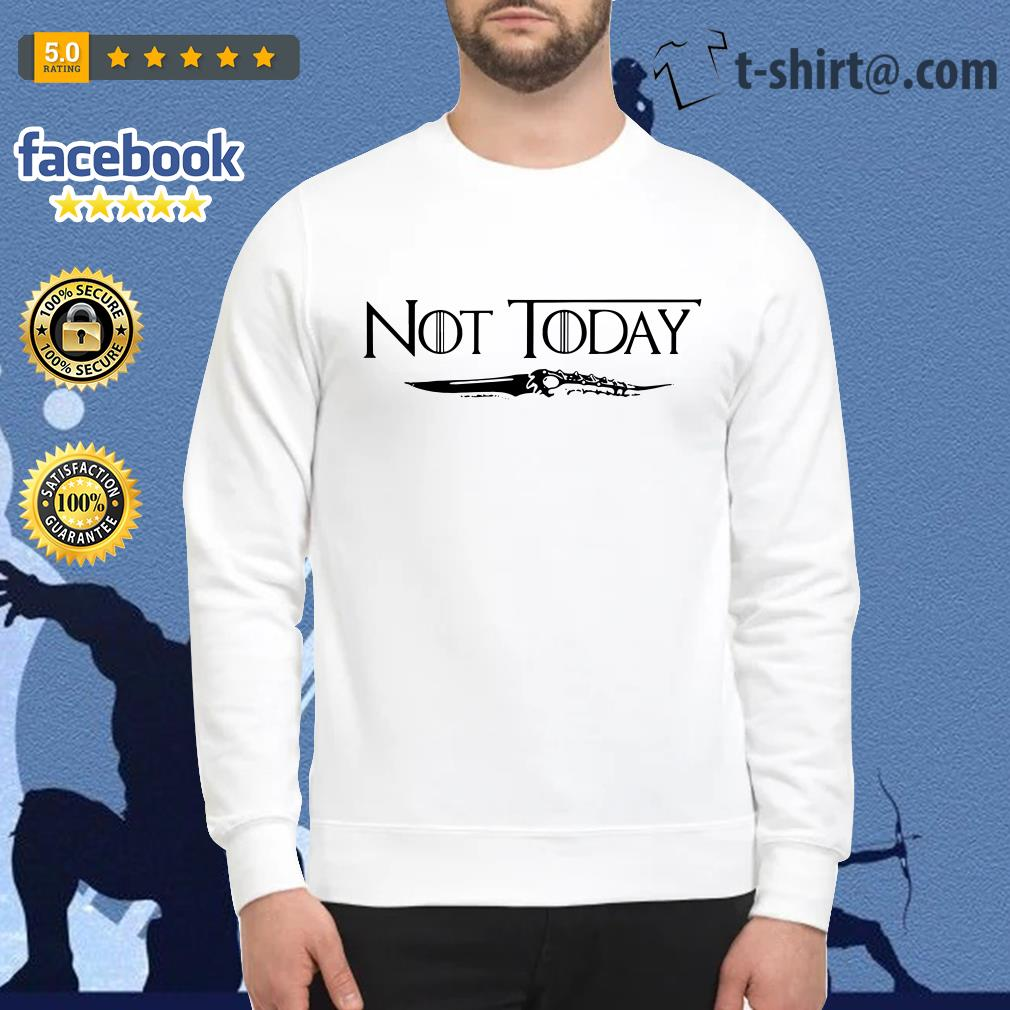 Official not today Arya Stark Game of Thrones Sweater