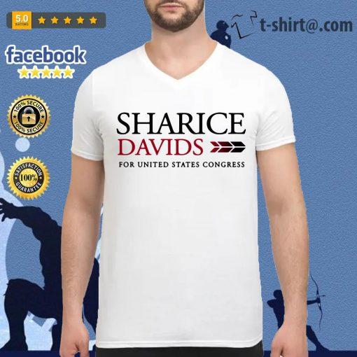 Sharice Davids for united states congress V-neck T-shirt