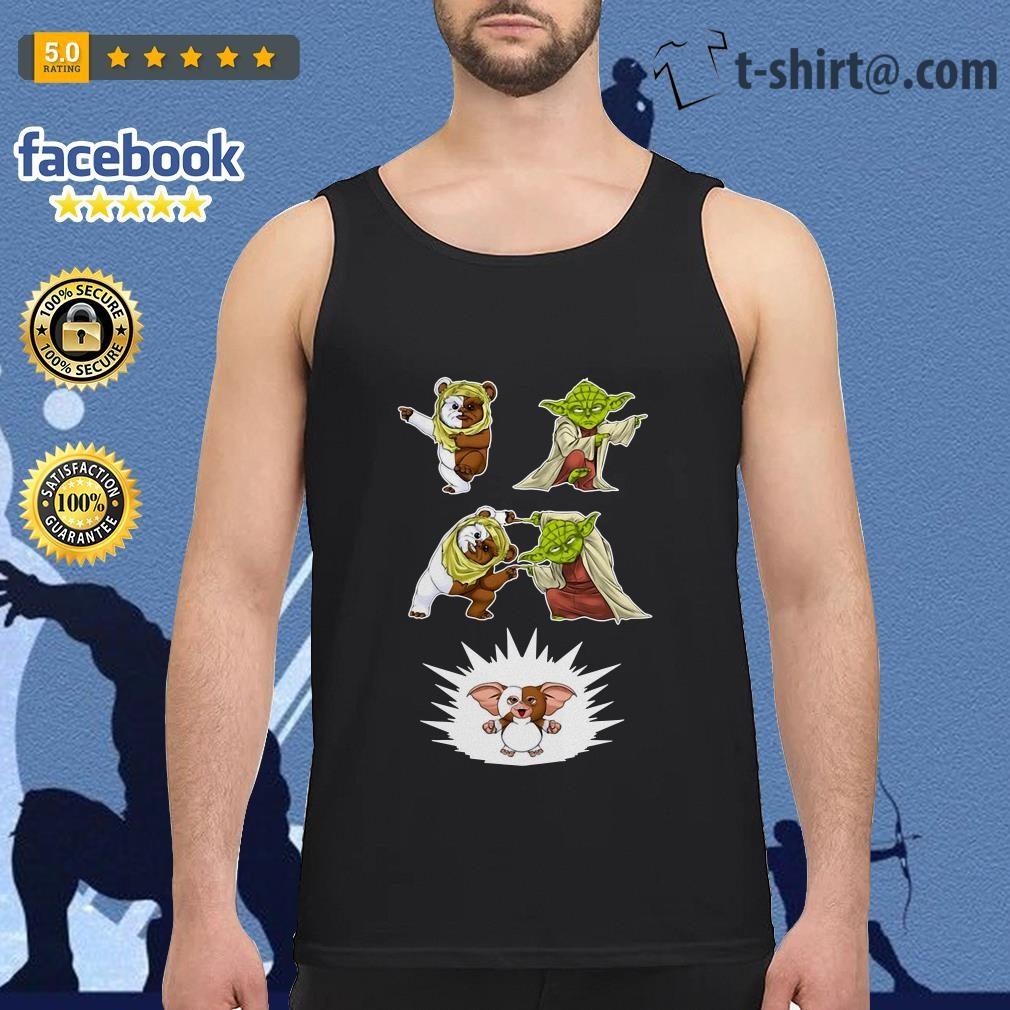 Star Wars Yoda Ewok and Gizmo fusion dance Tank top