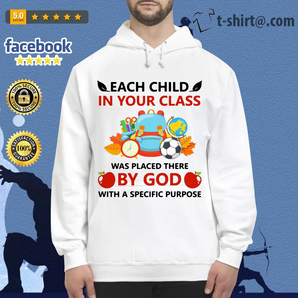 Teacher each child in your class was placed there by God with a specific purpose Hoodie