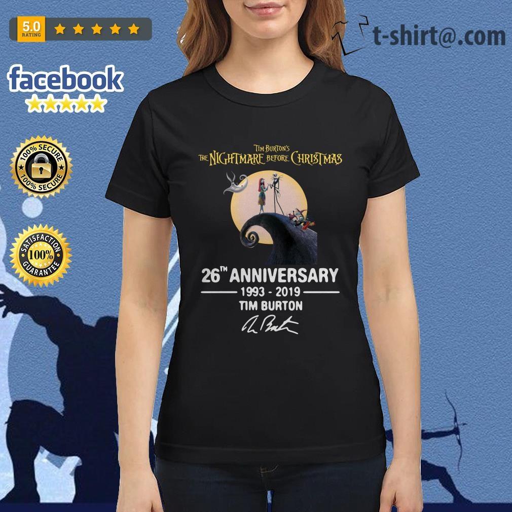 8d9699e0 Tim Burton's The Nightmare Before Christmas 26th anniversary shirt