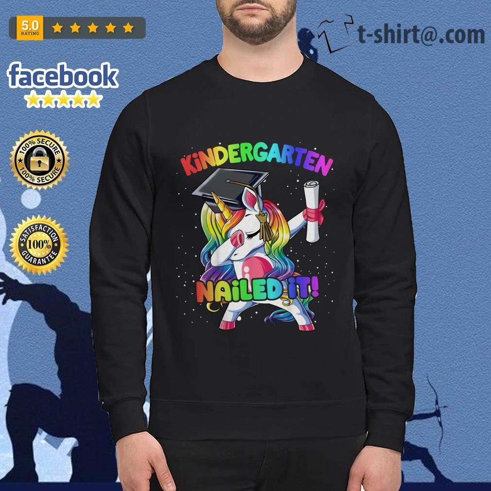 Unicorn dabbing kindergarten nailed it Sweater