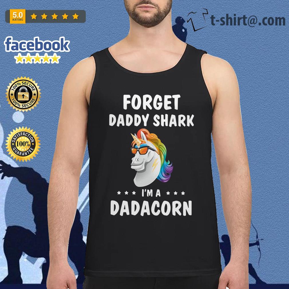 Unicorn forget daddy shark I'm a Dadacorn V-neck T-shirt