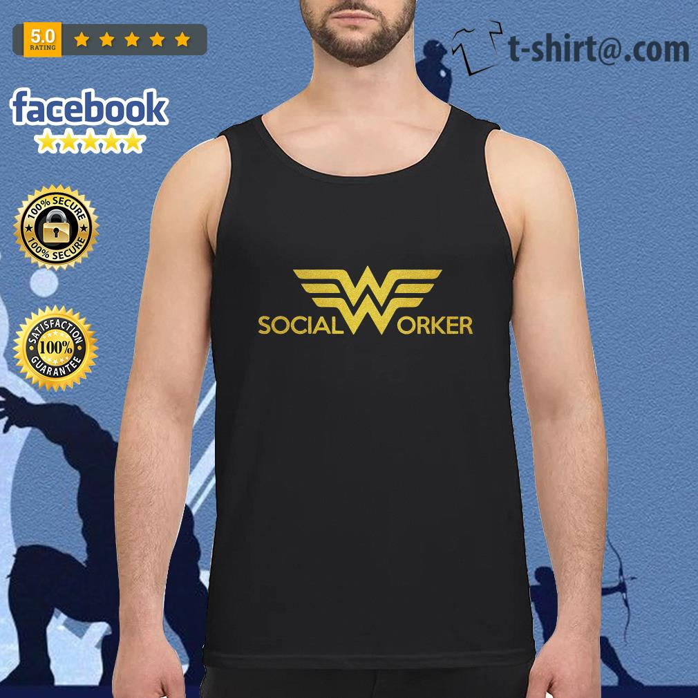 Wonder woman social worker Tank top
