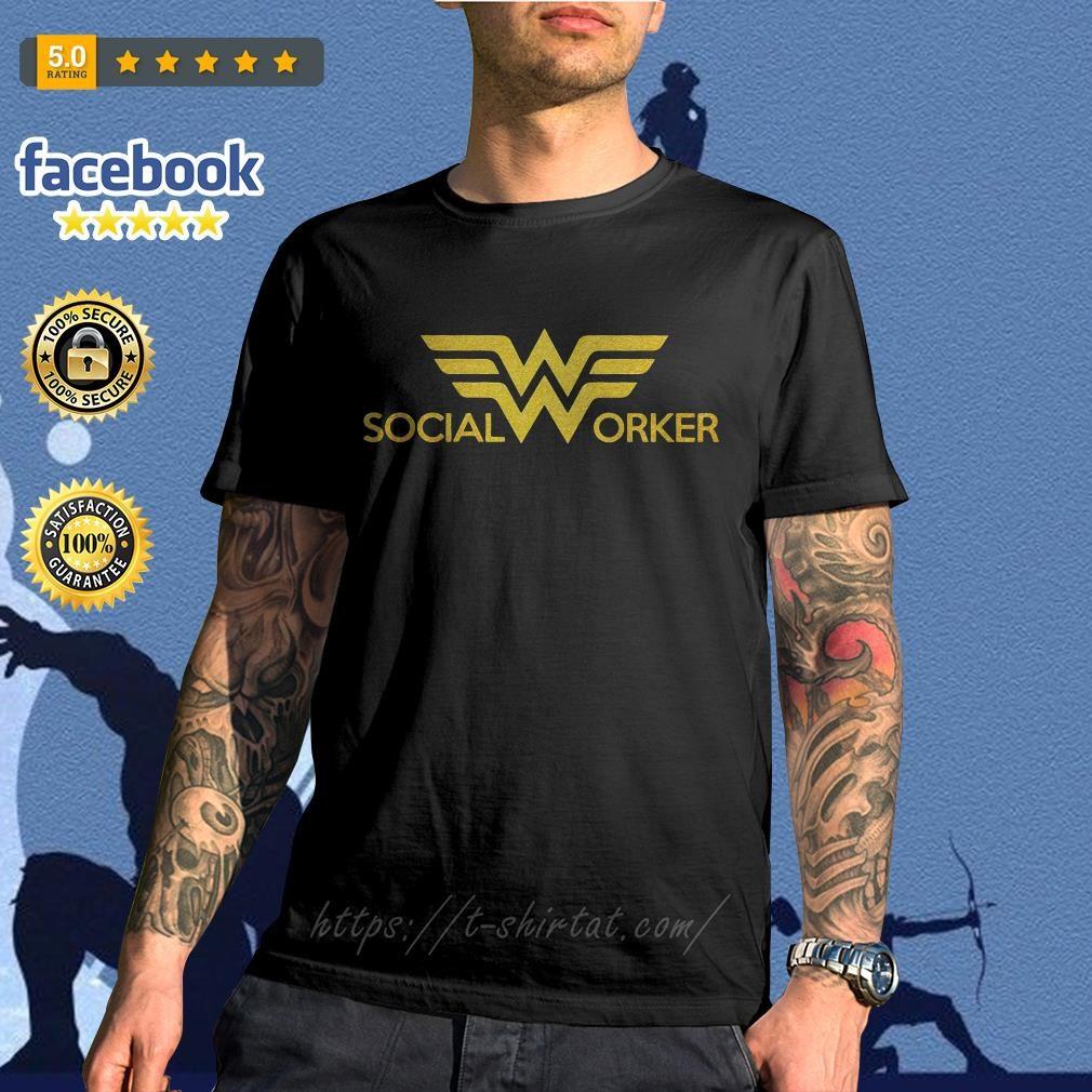 Wonder woman social worker shirt