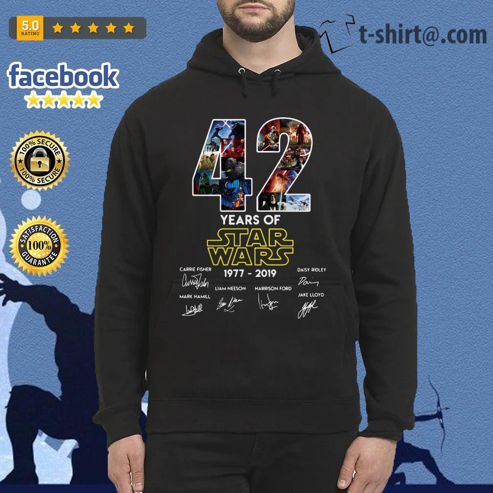 42 Years of Star Wars 1977-2019 signature Hoodie