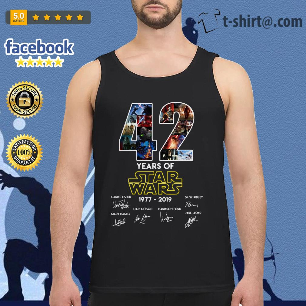 42 Years of Star Wars 1977-2019 signature Tank top