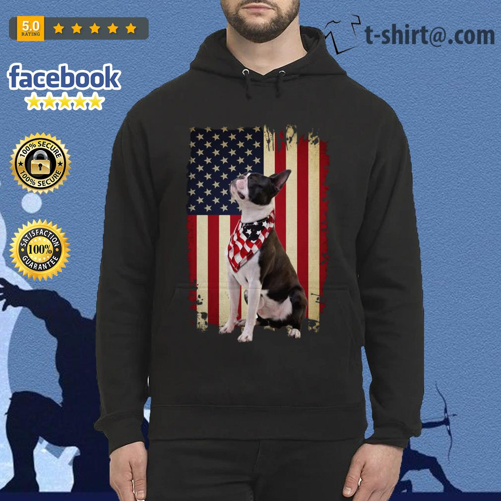 4th July Independence day Boston terrier American flag Hoodie