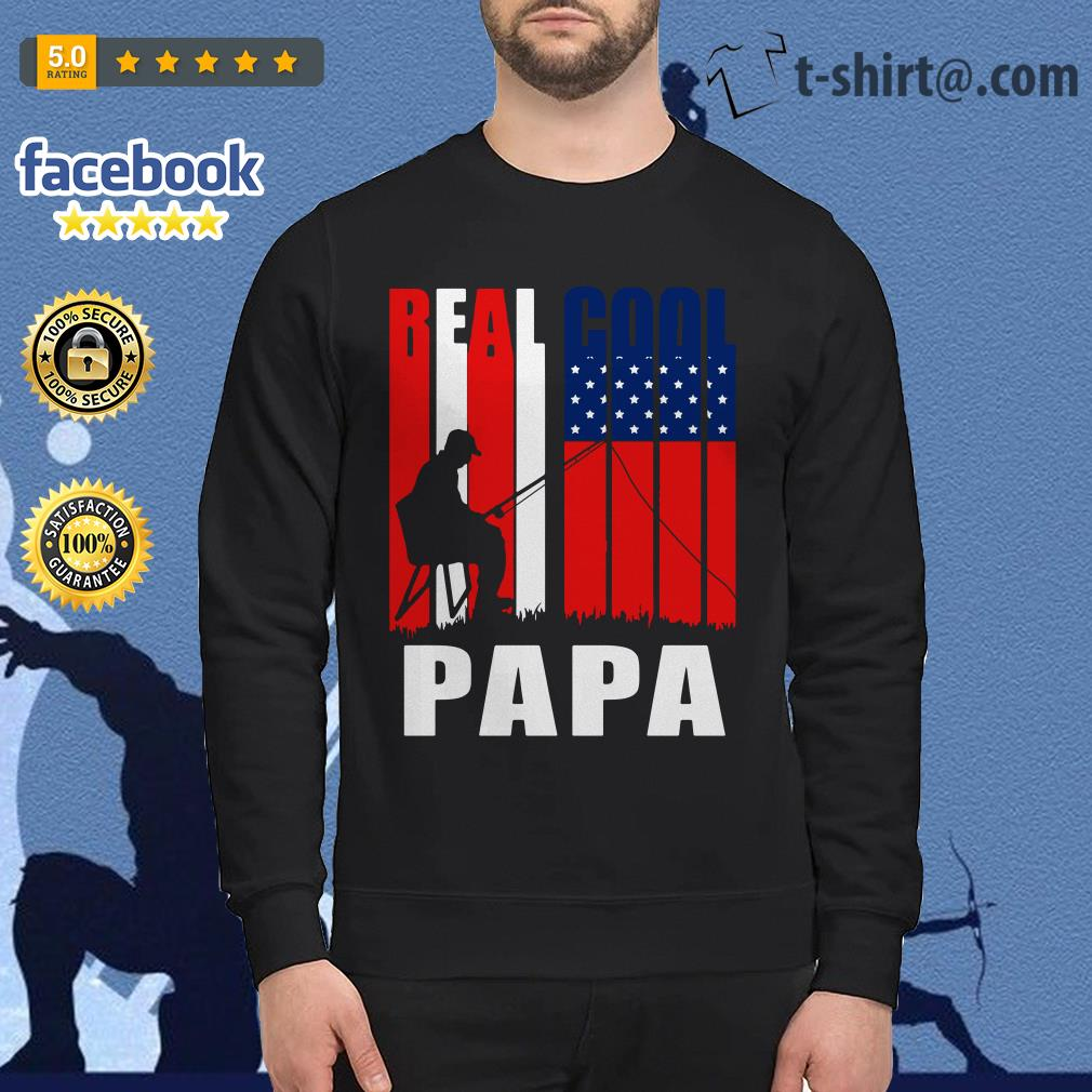 4th July independence day real cool Papa fishing lover Sweater