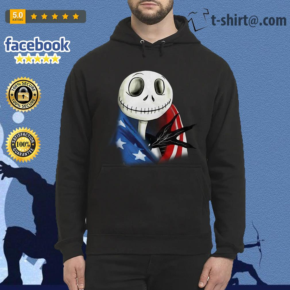 4th July independence day Skellington capes American flag Hoodie