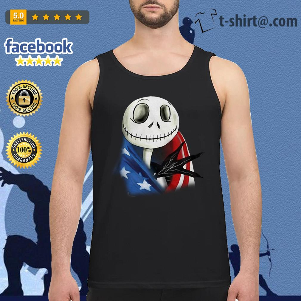 4th July independence day Skellington capes American flag Tank top