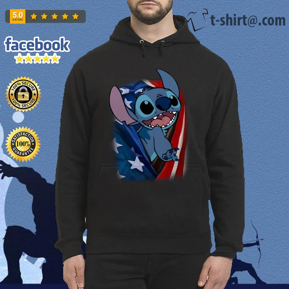 4th July independence day stitch capes American flag Hoodie
