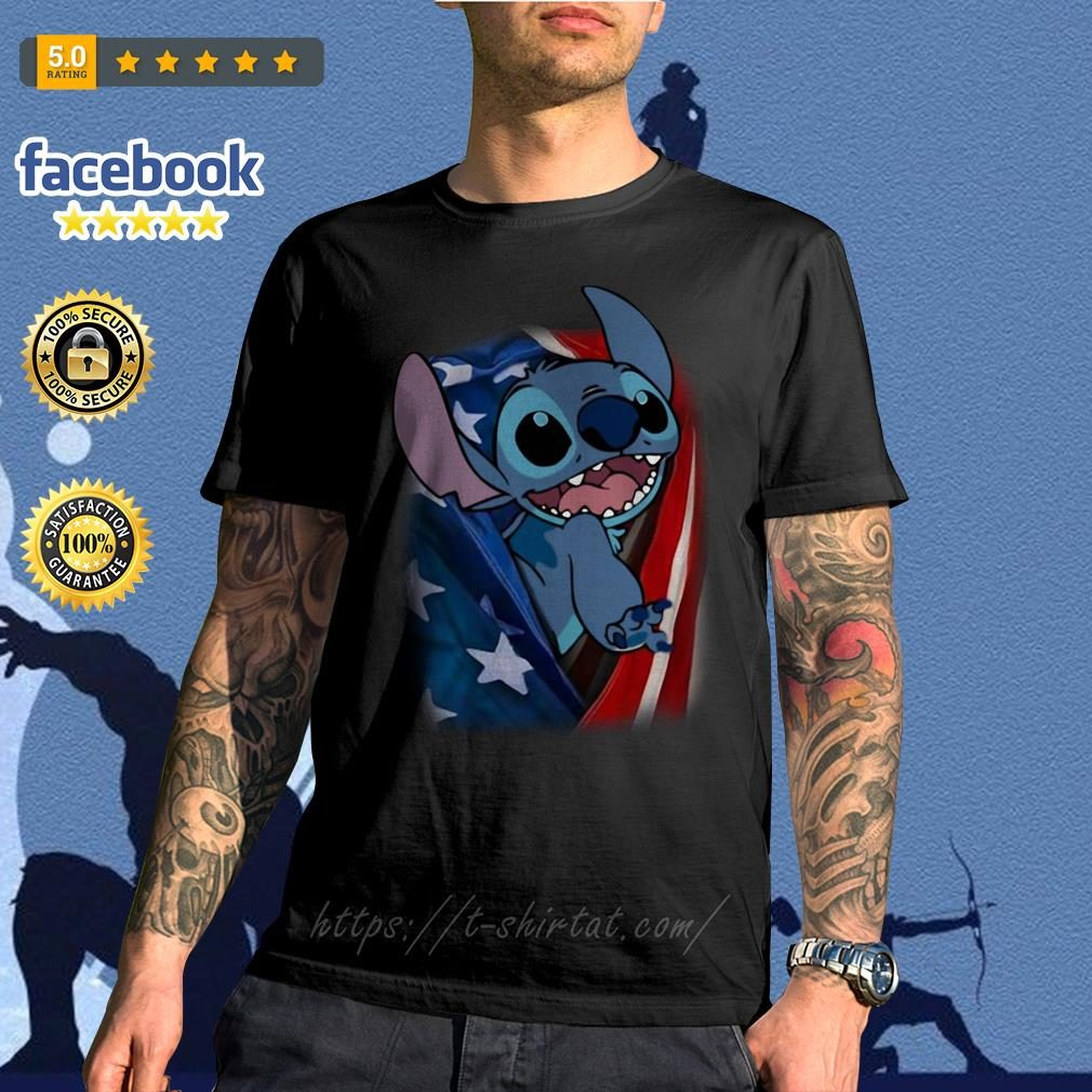4th July independence day stitch capes American flag shirt