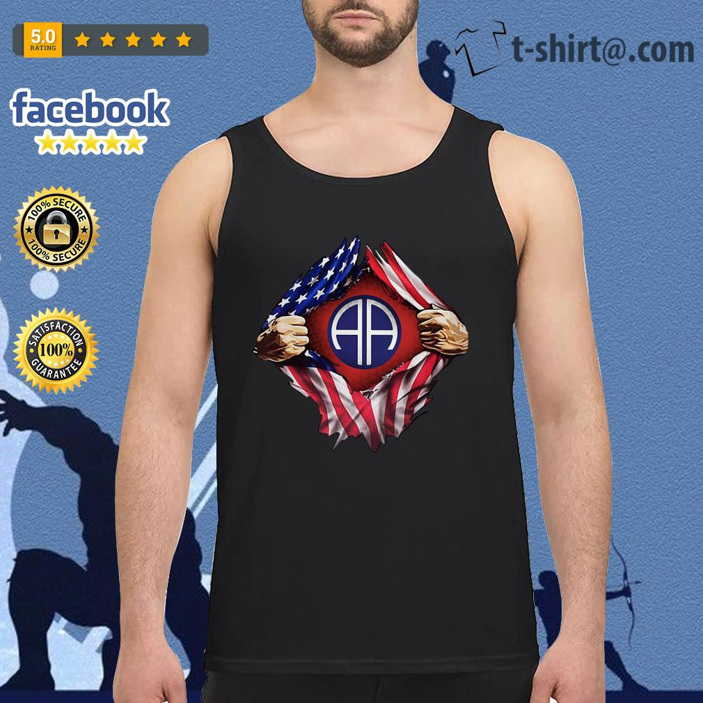 4th Of July independence day Army Airborne blood inside me Tank top