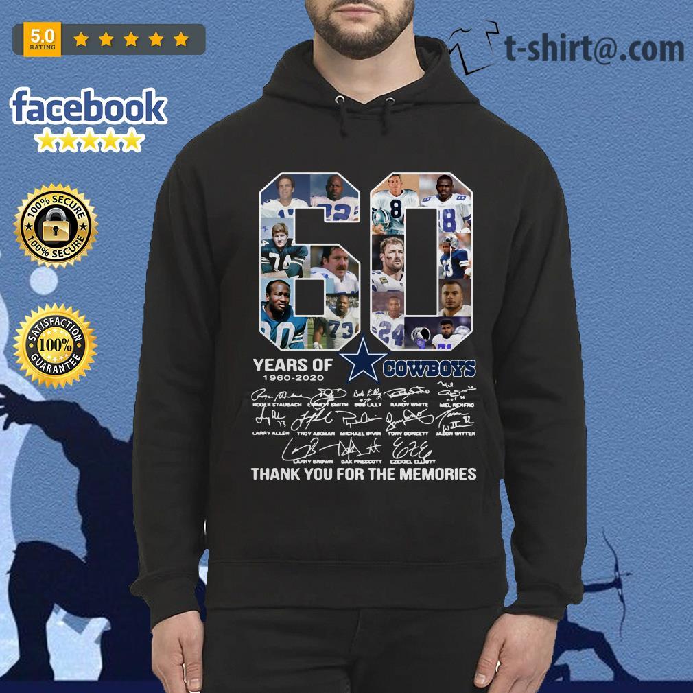 60 Years Of Dallas Cowboys 1960-2020 signatures Hoodie