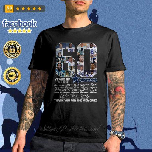 60 Years Of Dallas Cowboys 1960-2020 signatures shirt