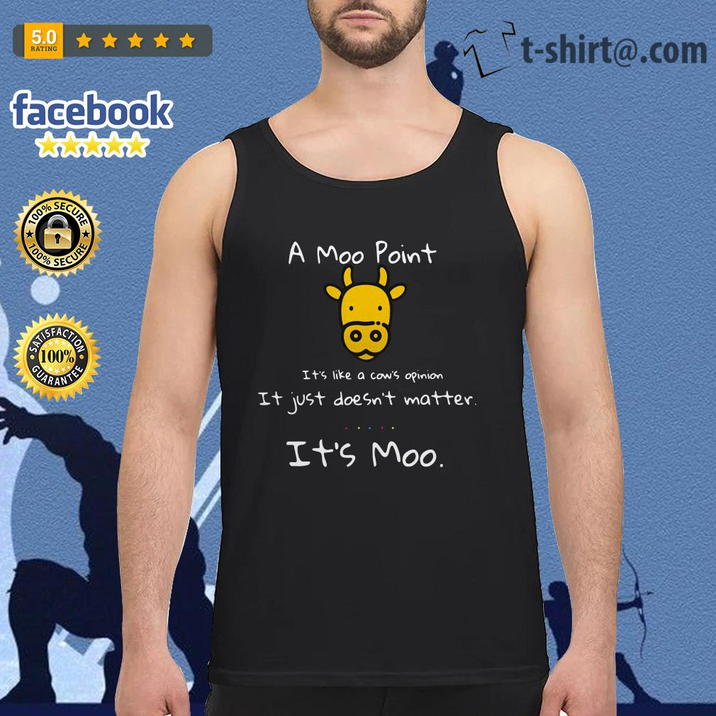 A moo point it's like a cow's opinion it just doesn't matter it's moo Tank top
